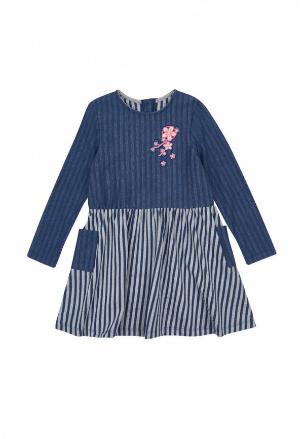 повседневные платье бемби для девочки, синее