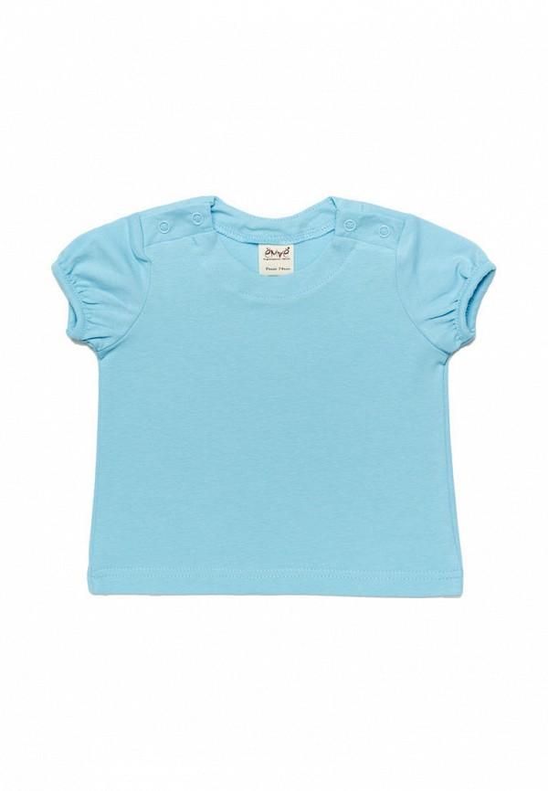 футболка с коротким рукавом ёмаё для девочки, голубая