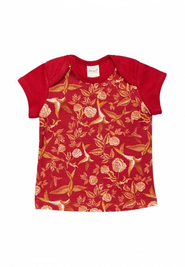 футболка с коротким рукавом ёмаё для девочки, красная
