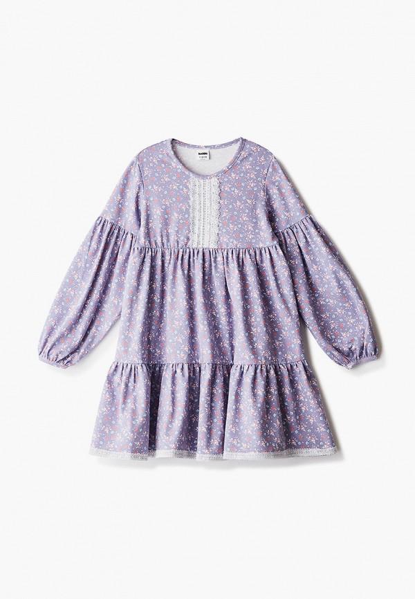 повседневные платье looklie для девочки, фиолетовое