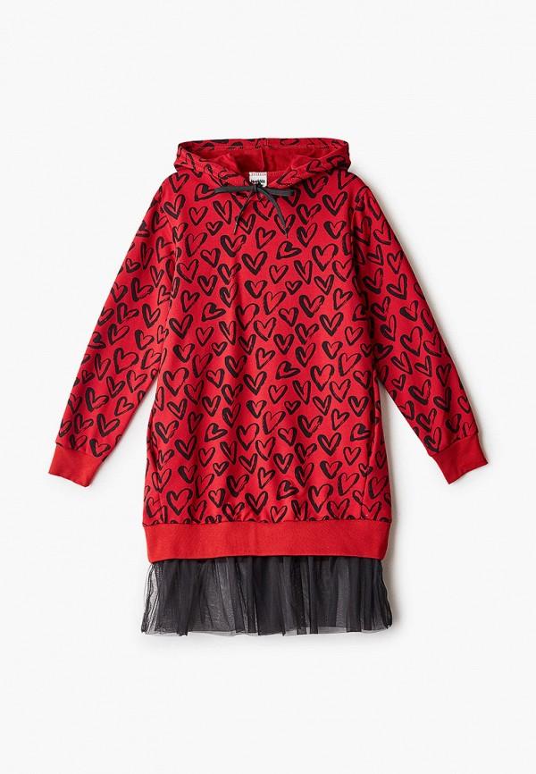 повседневные платье looklie для девочки, бордовое