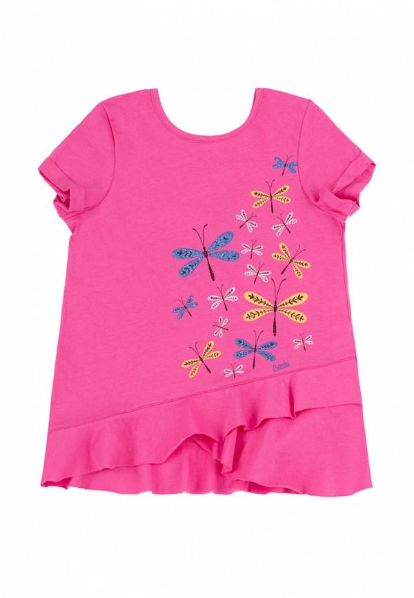 футболка с коротким рукавом бемби для девочки, розовая