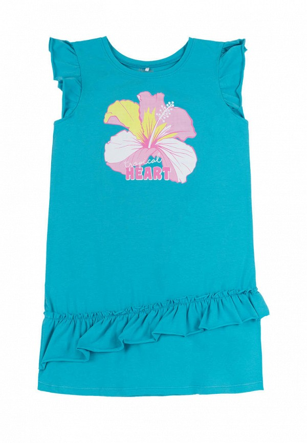 повседневные платье бемби для девочки, голубое
