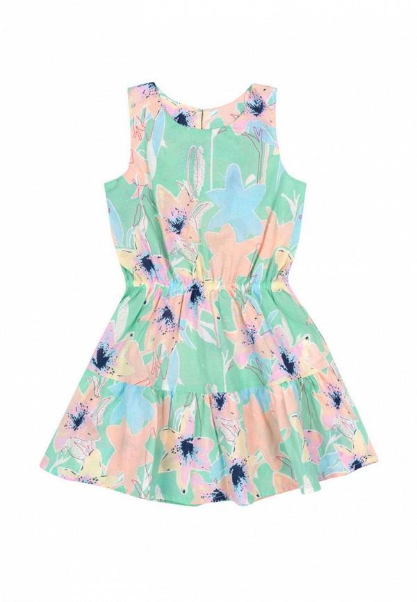 повседневные платье бемби для девочки, бирюзовое