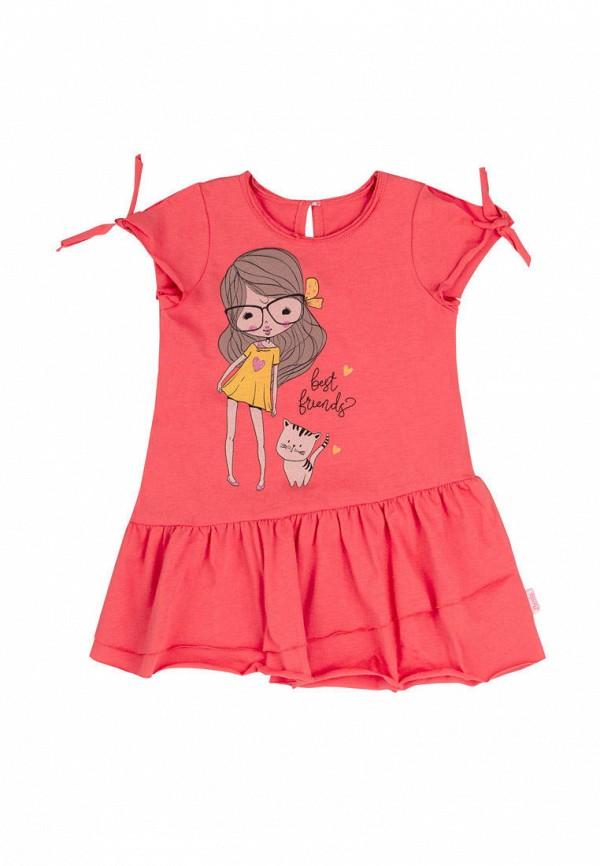 повседневные платье бемби для девочки, красное