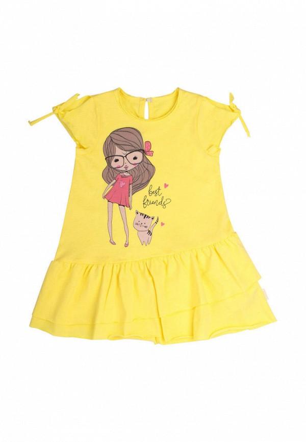 повседневные платье бемби для девочки, желтое