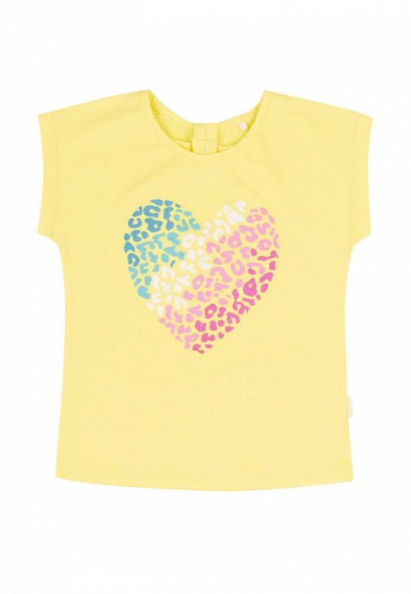 футболка с коротким рукавом бемби для девочки, желтая