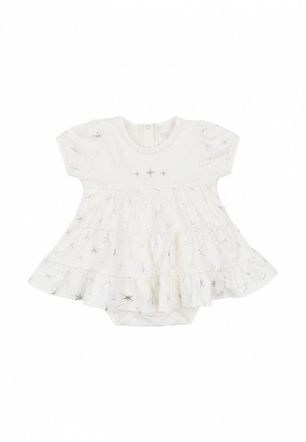 боди фламинго текстиль для девочки, белые