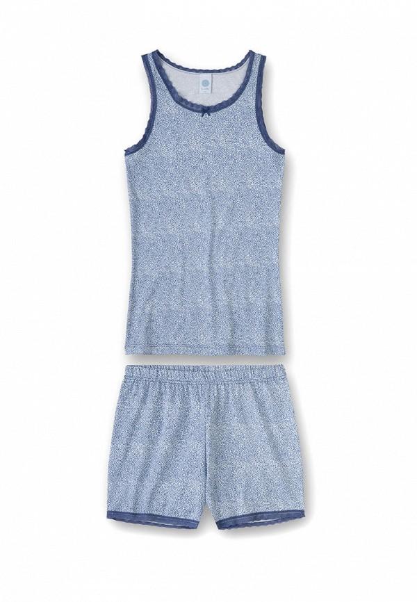 пижама sanetta для девочки, синяя