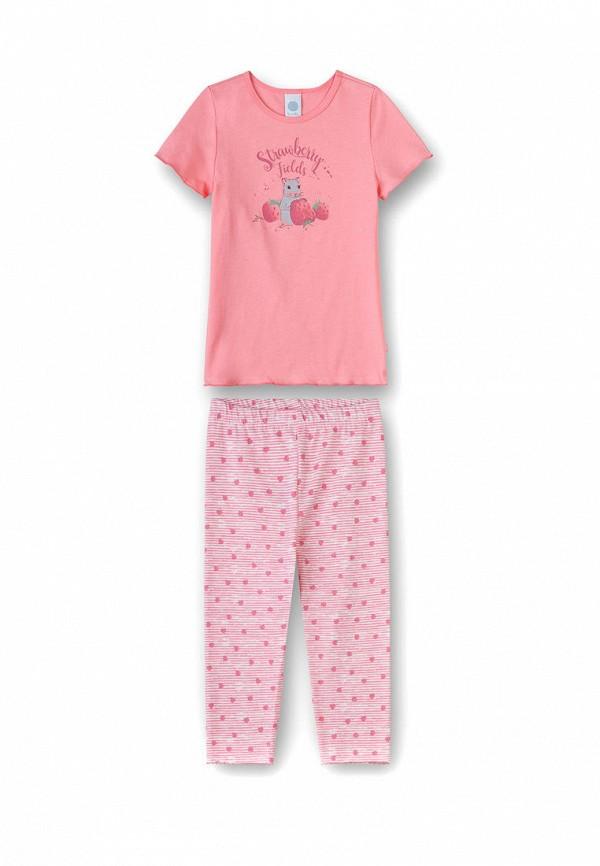 пижама sanetta для девочки, розовая