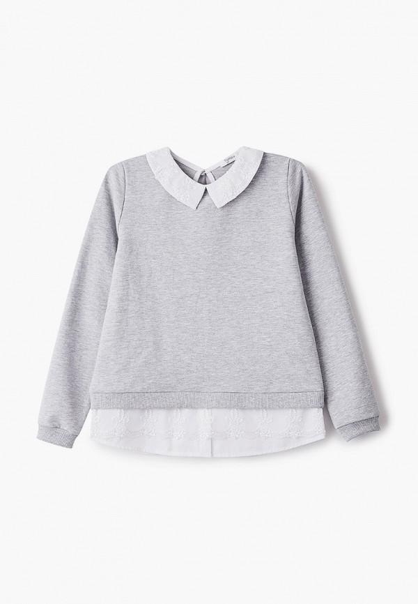 блузка tforma для девочки, серая