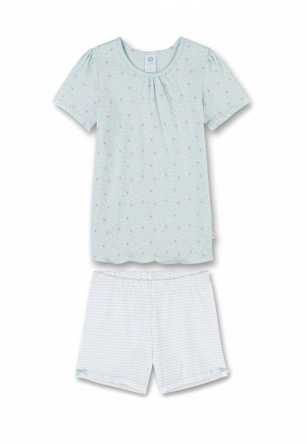 пижама sanetta для девочки, голубая