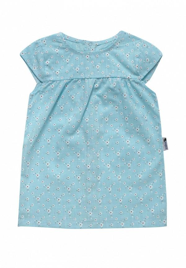 повседневные платье клякса для девочки, голубое