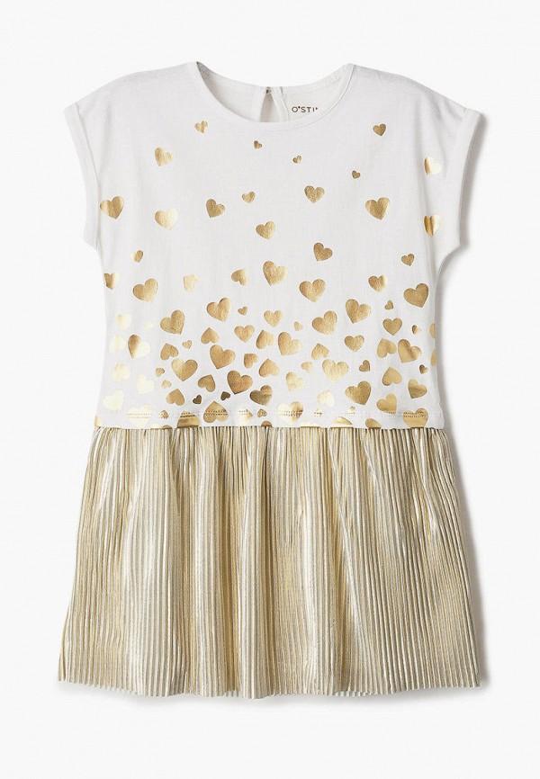 повседневные платье o'stin для девочки, золотое