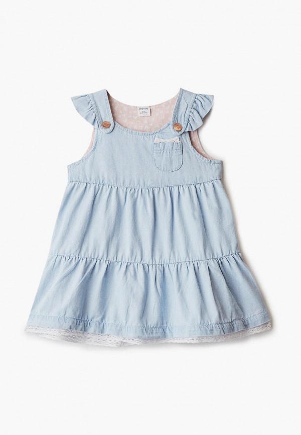повседневные платье o'stin для девочки, голубое