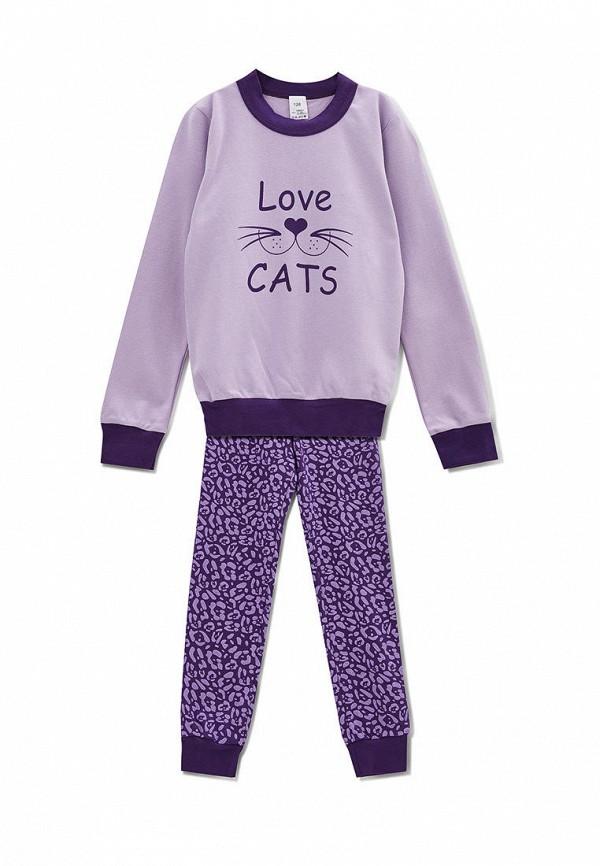 пижама роза для девочки, фиолетовая