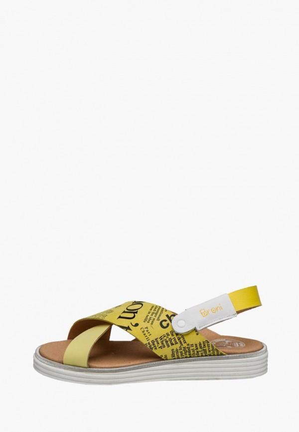 сандалии broni для девочки, желтые