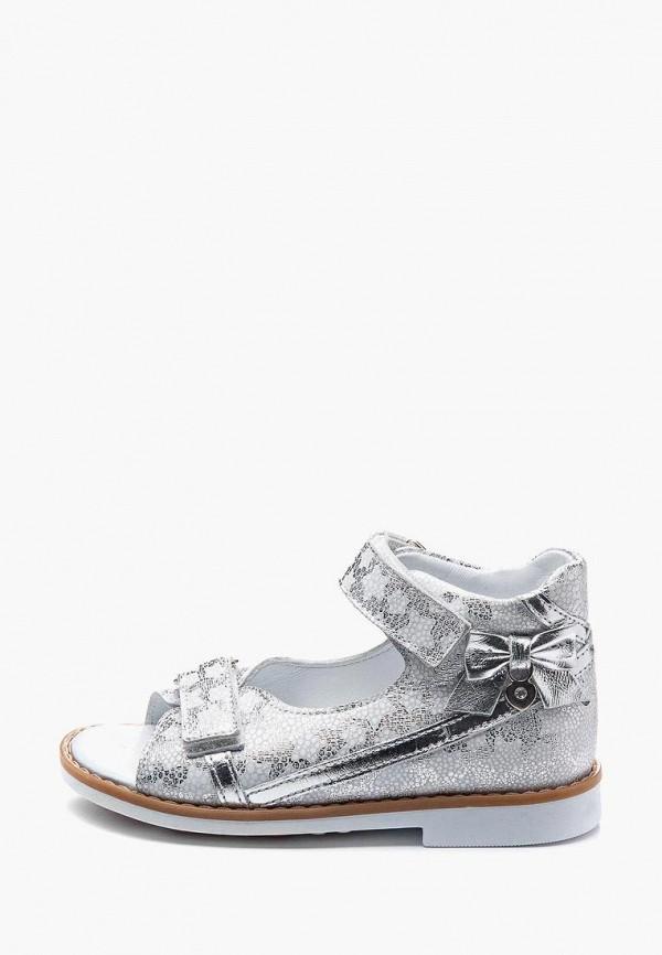сандалии theo leo для девочки, серебряные