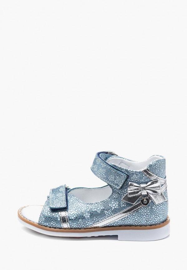 сандалии theo leo для девочки, голубые