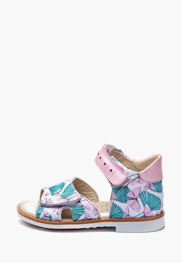 сандалии theo leo для девочки, разноцветные