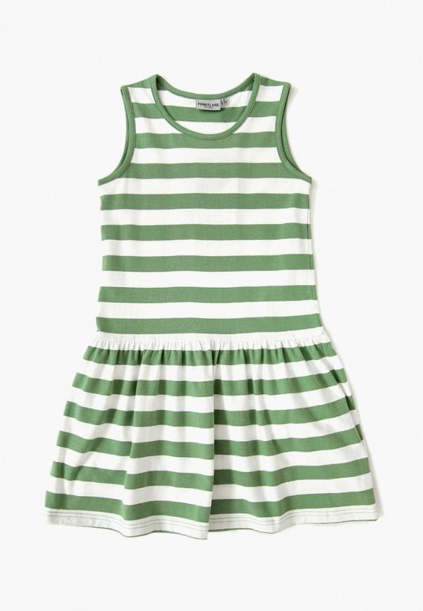 повседневные платье finn flare для девочки, зеленое