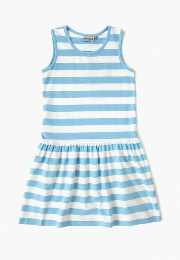 повседневные платье finn flare для девочки, голубое