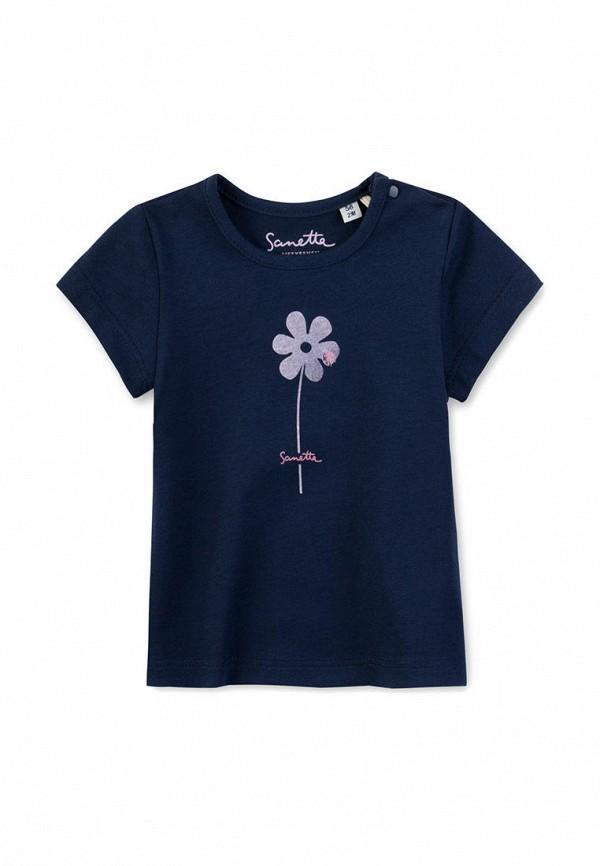 футболка с коротким рукавом sanetta для девочки, синяя
