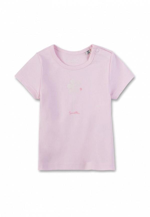 футболка с коротким рукавом sanetta для девочки, розовая