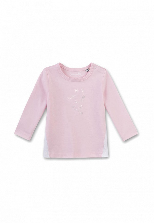 лонгслив sanetta для девочки, розовый