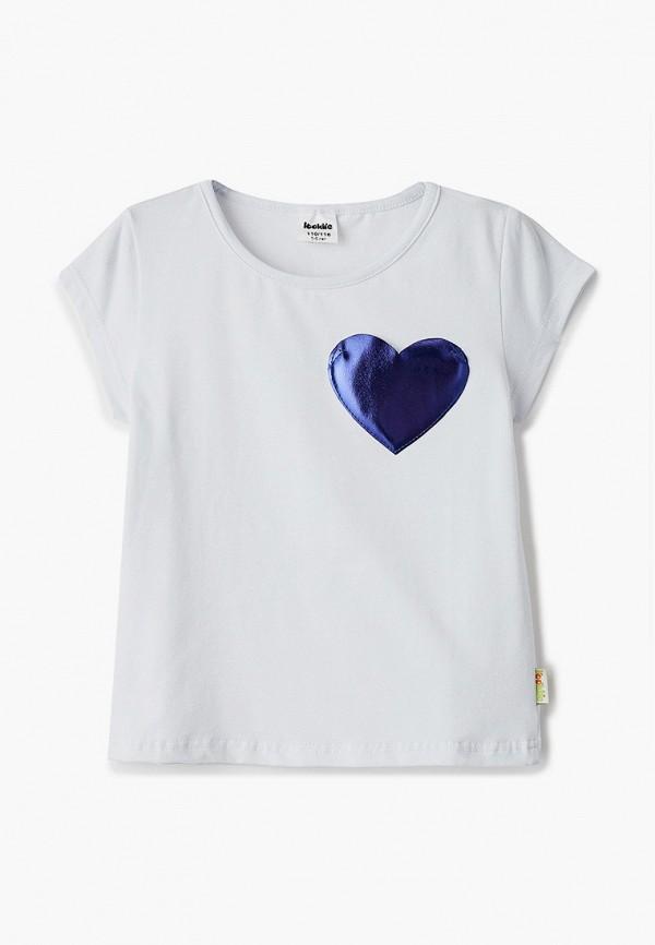 футболка с коротким рукавом looklie для девочки, белая