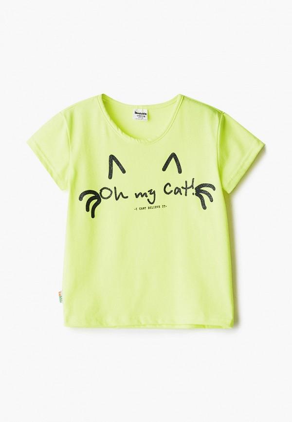футболка с коротким рукавом looklie для девочки, желтая