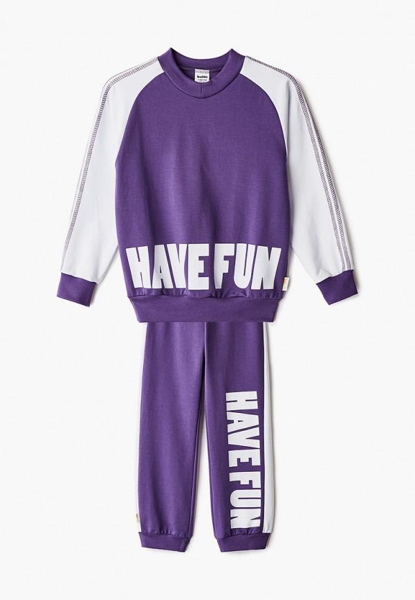 спортивный костюм looklie для девочки, фиолетовый
