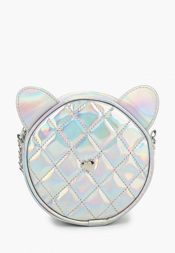 сумка acoola для девочки, серебряная