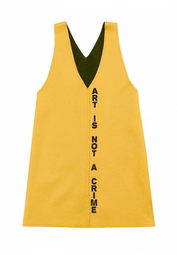 повседневные платье fox&roll для девочки, желтое