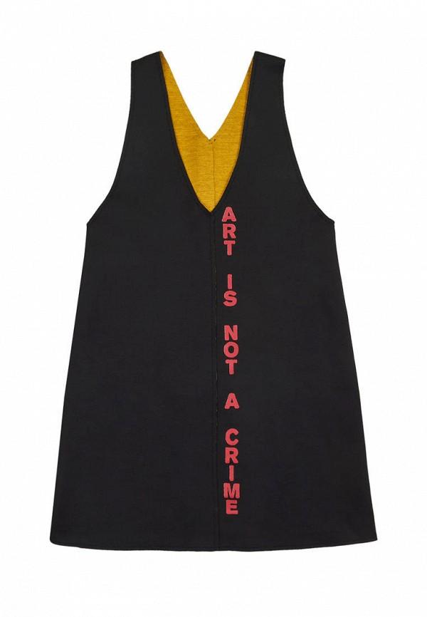 повседневные платье fox&roll для девочки, черное