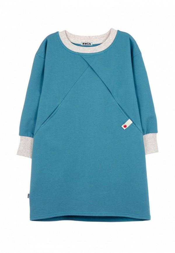 повседневные платье кузя для девочки, синее