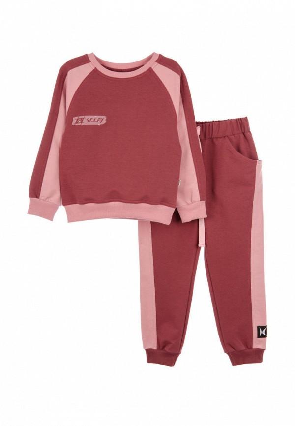 спортивный костюм кузя для девочки, бордовый
