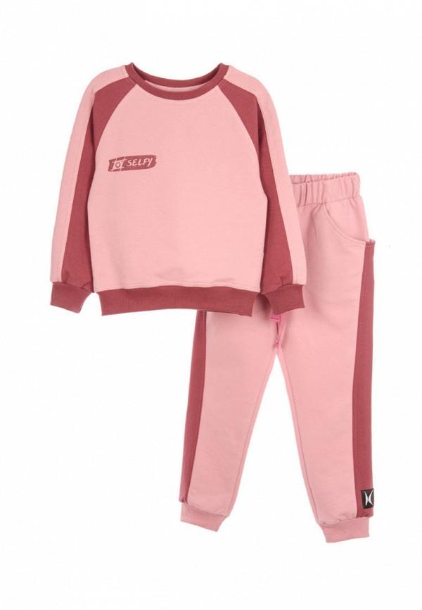 спортивный костюм кузя для девочки, розовый