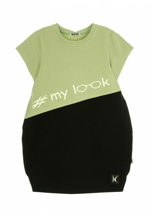 повседневные платье кузя для девочки, зеленое