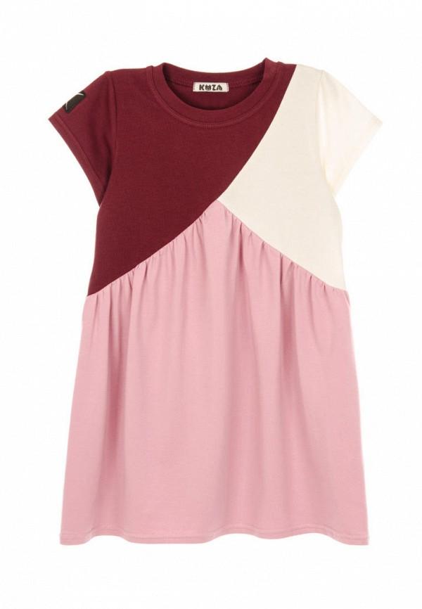 повседневные платье кузя для девочки, бордовое