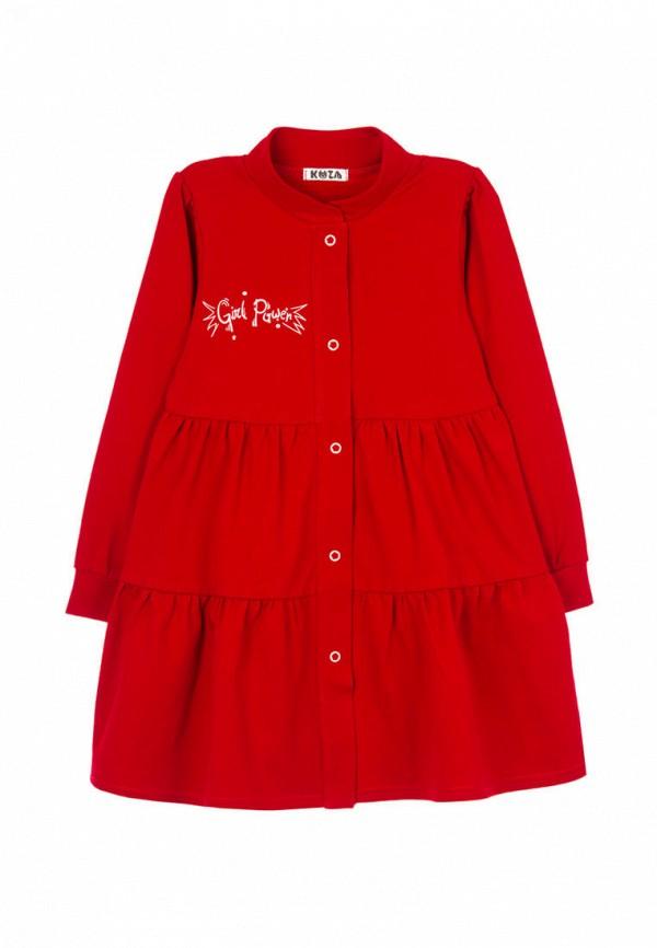 повседневные платье кузя для девочки, красное