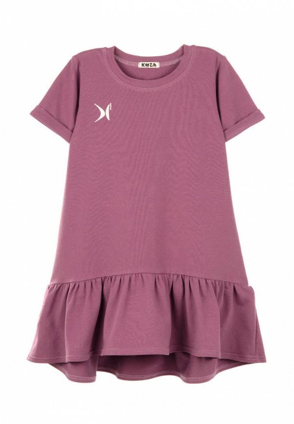 повседневные платье кузя для девочки, фиолетовое