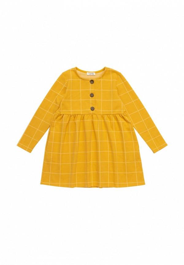 повседневные платье artie для девочки, желтое