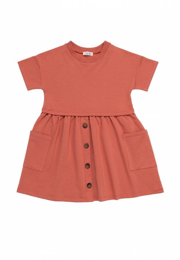 повседневные платье artie для девочки, красное