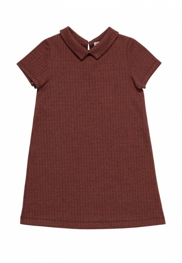 повседневные платье artie для девочки, коричневое