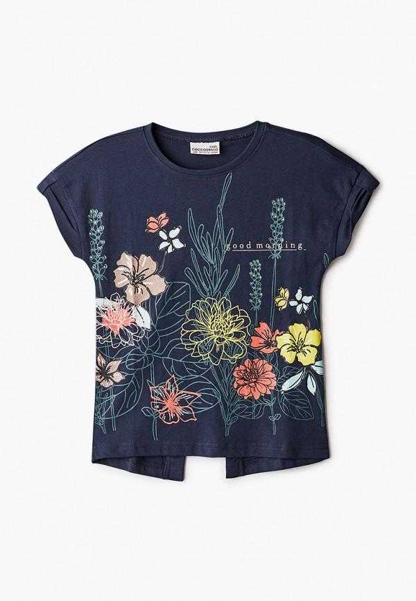 футболка с коротким рукавом coccodrillo для девочки, синяя