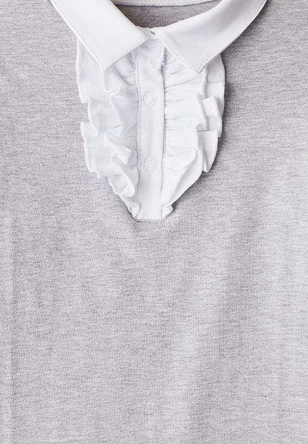Лонгслив для девочки Repost цвет серый  Фото 3