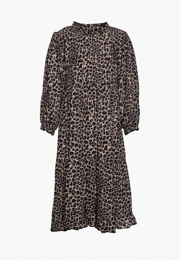 повседневные платье yumster для девочки, коричневое