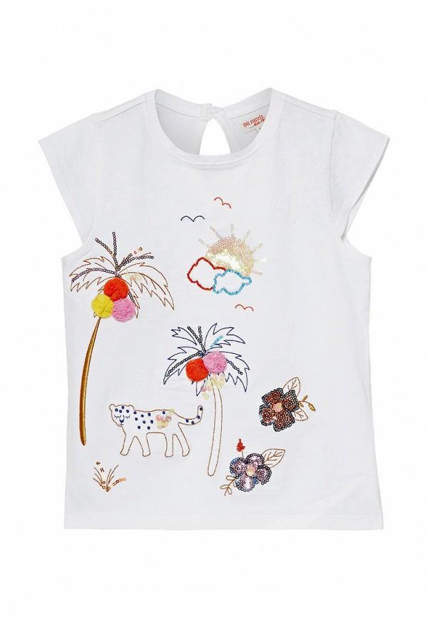 футболка с коротким рукавом du pareil au même для девочки, белая