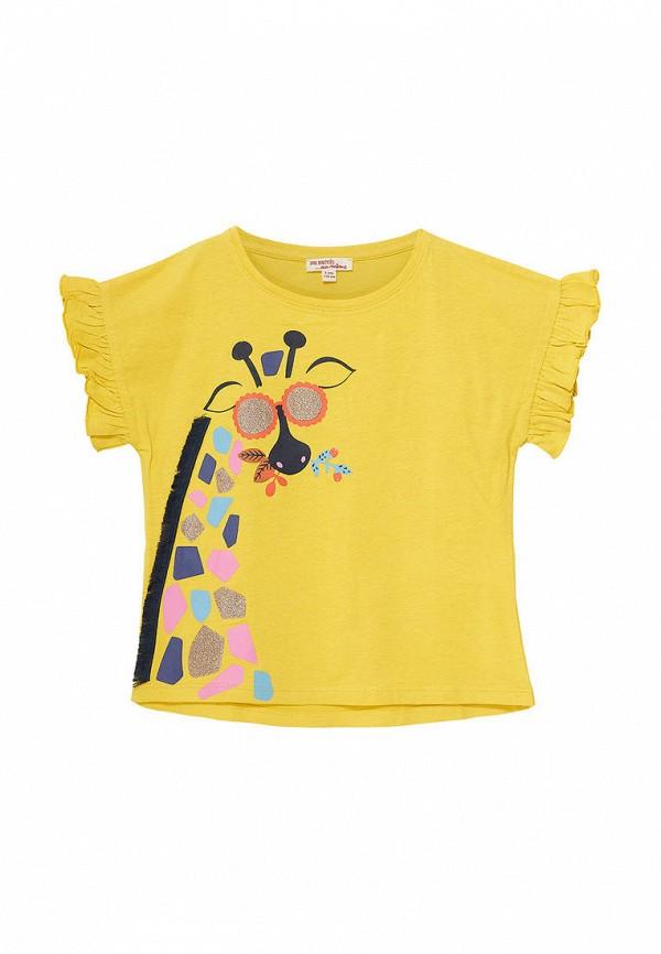 футболка с коротким рукавом du pareil au même для девочки, желтая